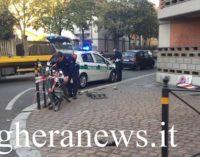 VOGHERA 30/10/2017: Carambola di un'auto impazzita lungo Corso XXVII Marzo. Alla fine 5 le auto coinvolte. Tre le persone al pronto soccorso