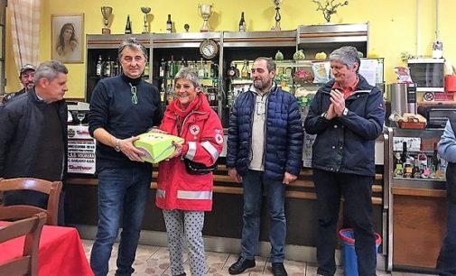 VOGHERA 09/11/2017: La Croce Rossa dona il defibrillatore al Centro anziani di Medassino