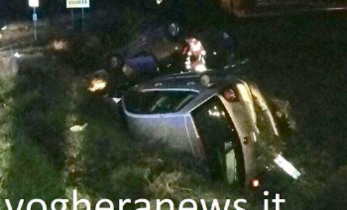 VOGHERA 22/11/2017: Sei auto uscite di strada (di cui 5 ribaltate) in un giorno. Le ultime a Godiasco e ancora a Voghera