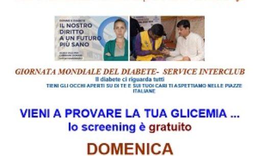 VOGHERA 15/11/2017: Contro il Diabete. Domenica screening gratuito organizzato dal Lions in piazza Duomo