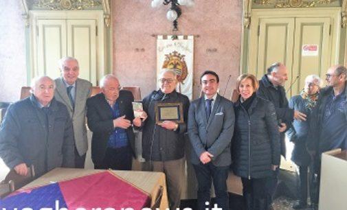 VOGHERA 20/11/2017: Targa in Comune per il 90enne Guido Schiavo. Il vogherese al lavoro per  donare alla città un monumento ai Carabinieri