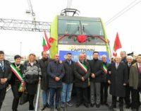 MORTARA 29/11/2017: Dalla provincia di Pavia il treno diretto Italia-Cina che brucia la concorrenza dei cargo impiegando 'solo' 18 giorni
