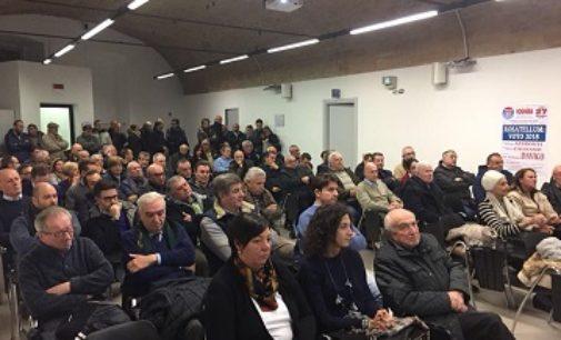 VOGHERA 28/11/2017: Sala Zonca piena ieri sera per il dibatto sul Rosatellum