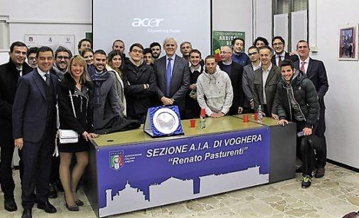VOGHERA 06/12/2017: Associazione Italiana Arbitri iriense in festa. La sede intitolata a Renato Pasturenti