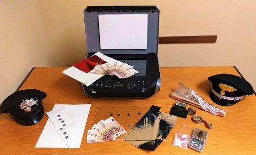 MONTÙ BECCARIA 29/12/2017: Producevano in casa 50 euro falsi con la stampante. Arrestati un uomo e una donna residenti a Broni e Pavia