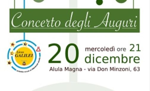 VOGHERA 18/12/2017: Mercoledì il Concerto di Natale del Liceo Galileo Galilei