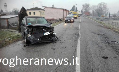 VOGHERA 12/12/2017: Neve e ghiaccio. Anche oggi incidenti sulle strade dell'Oltrepo e della provincia di Pavia