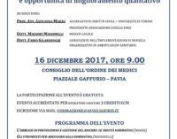 PAVIA 13/12/2017: Legge Gelli, cosa cambia per le Strutture Sanitarie. Sabato convegno all'Ordine dei Medici