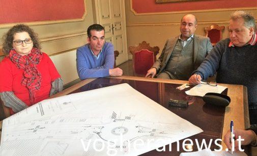 VOGHERA 12/12/2017: Accordo Comune Gulliver. Arriva la rotonda fra via Carlo Emanuele III e in via Barenghi