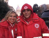 VOGHERA 30/01/2018: Ivolontari della Croce Rossa di Voghera all'udienza di Bergoglio