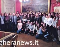 """VOGHERA 22/03/2018: Gemellaggi. Gli studenti del Kant di Leinfelden ospiti in Comune. Con loro i """"colleghi"""" del Galilei"""