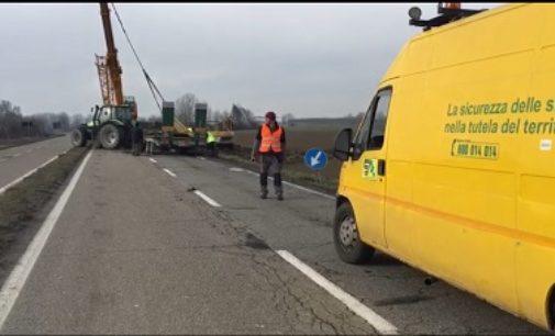 CASEI GEROLA 06/03/2018: Tir fuori strada. Sp 206 chiusa per un'ora. Alle 19 un altro incidente sulla Sp12