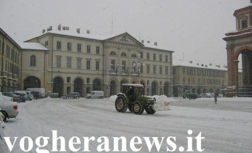 VOGHERA 01/03/2018: Neve. Il Comune ha disposto la chiusura delle scuole per la giornata di domani 2 Marzo