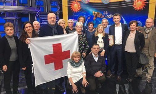 VOGHERA 15/03/2018: I Volontari iriensi portano le insegne della Croce rossa a Striscia la Notizia