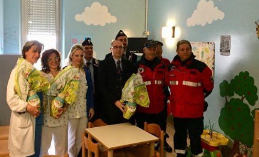 VOGHERA 04/04/2018: Le Uova di Pasqua dei Carabinieri ai bambini ricoverati in Ospedale