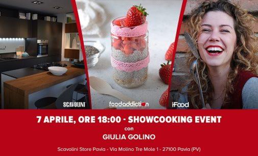 """PAVIA: FoodAddiction in Store sbarca a Pavia. Sabato allo Scavolini Store il """"Chia Pudding"""": ricette e degustazioni con la blogger Giulia Golino di iFood"""