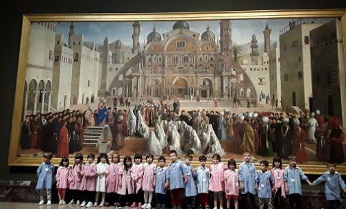 VOGHERA 23/05/2018: I piccoli della scuola dell'infanzia di Torremenapace in visita anche alla Pinacoteca di Brera