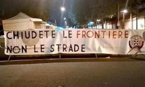 """VOGHERA 14/05/2018: Blocchi di cemento alla Sensia. CasaPound: """"Chiudete le frontiere non le strade"""""""