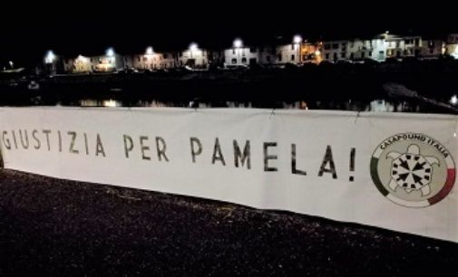 "PAVIA 08/06/2018: ""Giustizia per Pamela"". Striscione di Casapound in città"