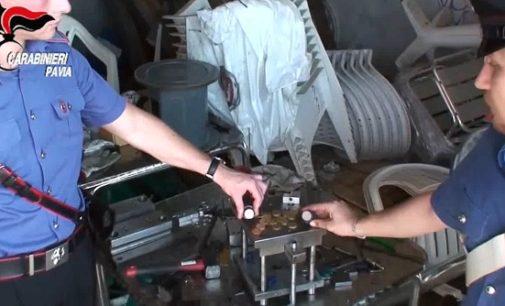 PAVIA 11/07/2018: Blitz nella zona industriale di Villanterio (FOTO VIDEO). Carabinieri scoprono una zecca clandestina. Tre uomini coniavano monete da 50 centesimi