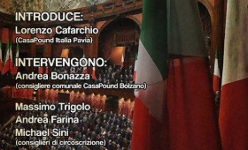 """VOGHERA 02/07/2018: """"CasaPound nelle istituzioni"""". Incontro alla sala Zonca"""