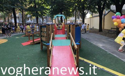 VOGHERA 24/07/2018: Nuovo parco giochi Moschini già nel mirino di incivili e maleducati