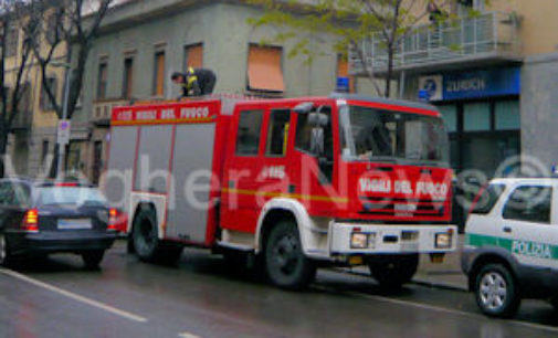 VOGHERA 19/07/2018: Incendio nei locali della Squadra rialzo delle Ferrovie
