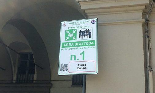 VOGHERA 01/07/2018: Installati 31 cartelli che indicano le aree di attesa dove recarsi in caso di sisma. C'è anche una App che emette avvisi in caso di calamità