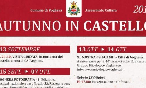 """VOGHERA 06/09/2018: Torna """"Autunno in Castello"""". Ecco gli appuntamenti in calendario dal 13 Settembre al 28 Ottobre"""