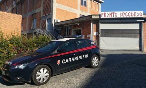 VARZI 24/09/2018: Dopo l'incidente va al pronto soccorso dove spacca le vetrate. 21enne denunciato dai Carabinieri