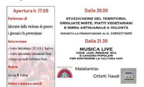 """CODEVILLA 03/09/2018: Al circolo """"L'Oste di fuori porta"""" un pomeriggio contro la violenza sulle donne"""