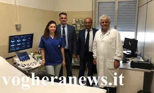 VOGHERA 19/09/2018: Paziente dona 40mila euro all'Ospedale. Ora l'Unità Operativa di Cardiologia ha un nuovo ecocardiografo