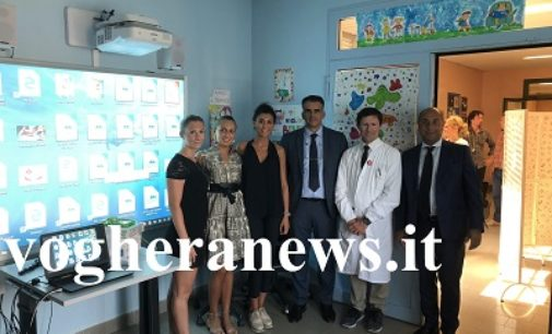 VOGHERA 19/09/2018: Materiale didattico e multimediale nella Pediatria dell'Ospedale. Tutto grazie al Leo Club