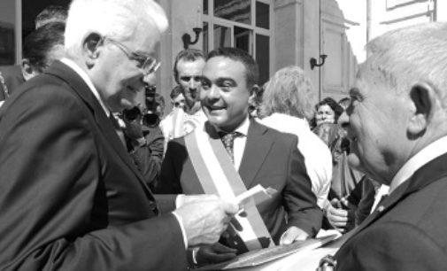 VOGHERA 02/10/2018: 70 anni della Costituzione. Il Presidente del Consiglio comunale Nicola Affronti dal presidente Mattarella