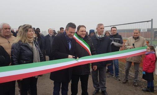 ARENA PO SAN CIPRIANO 29/11/2018: Inaugurati oggi in Oltrepò Pavese 7 chilometri di nuovi argini maestri del fiume Po