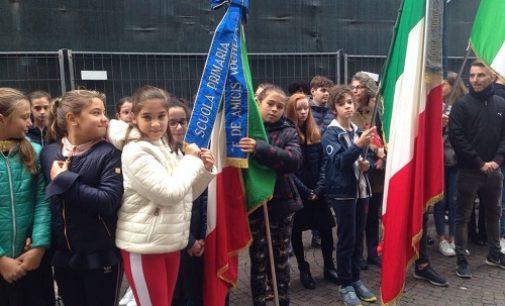 VOGHERA 07/11/2018: L'omaggio ai Caduti degli alunni della Scuola Primaria De Amicis
