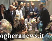 VOGHERA 15/11/2018: Centinaia di Peluche donati dal Rotary alla Pediatria. L'iniziativa estesa anche agli ospedali di Vigevano e Brescia