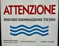 PAVIA 07/11/2018: Anche la piena del Ticino preoccupa. Il Comune chiude le strade