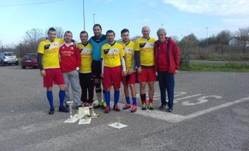 VOGHERA 20/11/2018: La squadra romena vince il torneo di calcio senza barriere
