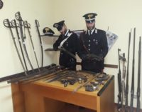 MONTU BECCARIA 21/01/2019: Fucili pistole e spade. I Carabinieri denunciano tre uomini per l'arsenale tenuto in casa