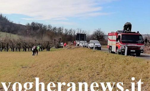 VAL DI NIZZA 05/01/2019: Auto fuori strada. Il 118 soccorre due uomini con l'elicottero
