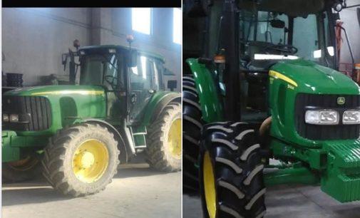 PAVIA VOGHERA VIGEVANO 24/01/2019: Rubati 2 trattori John Deere. L'appello del proprietario