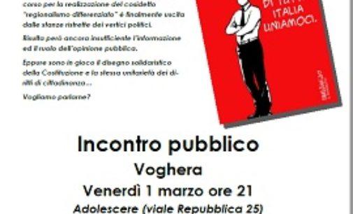"""VOGHERA 27/02/2019: """"Regionalismo differenziato"""". L'Anpi venerdì ne parla con il prof Pallante"""
