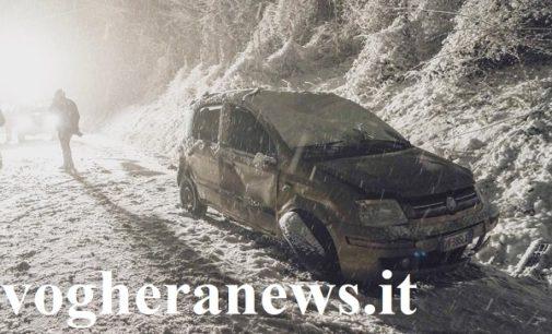 VOGHERA PAVIA 01/02/2019: Neve. Circolazione difficile. Molti gli incidenti. Un automobilista muore a Montù. Tre feriti a Voghera