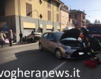 PONTE NIZZA 18/02/2019: Incidenti a raffica sulla strade della provincia. Ribaltamento sulla provinciale per il Penice. Ieri sera anche un morto nel pavese