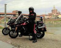 PAVIA 07/03/2019: I carabinieri ora vanno in moto. L'Arma pavese si è dotata di due Aprilia Caponord 1200