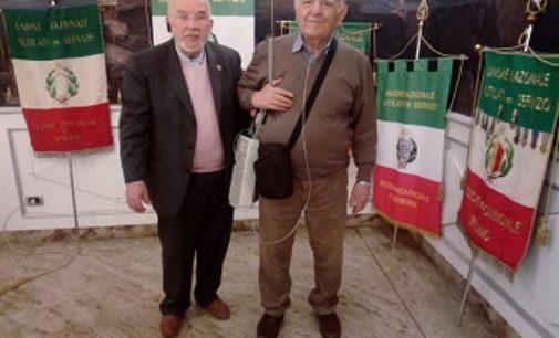 VOGHERA BORGARELLO 14/03/2019: Schiavo e Cicciò alla seduta UNMS. Nell'occasione è stato promosso il monumento ai Carabinieri caduti