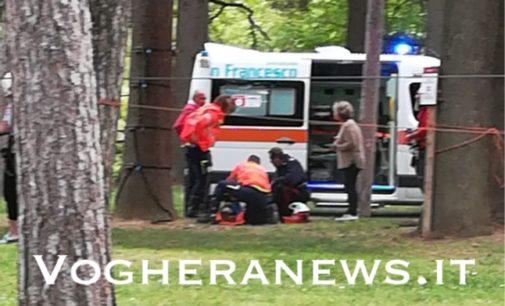 SALICE TERME 21/04/ 2019: Ragazzino cade dall'albero al parco. Ricoverato ad Alessandria in codice giallo