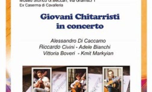 """VOGHERA 29/04/2019: Al """"15° Festival Chitarristico"""" arrivano i Giovani. Concerto Mercoledì sera al Museo Beccari"""