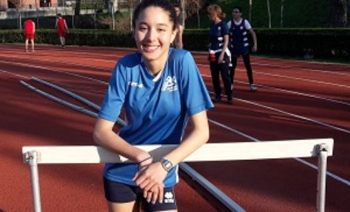 VOGHERA 01/04/2019: Atletica. Cecilia Tagliabue al record vogherese sugli ostacoli